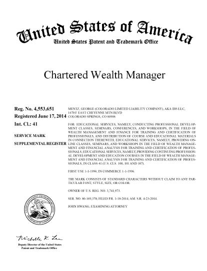 chartered wealth manager ® - academy finance management ® certified ...
